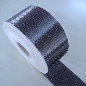 Rotolo in tessuto in vera fibra di carbonio 200 g/m² 12K UD PLAIN 10cm x 3 Metri