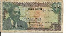 KENYA, 10  SHILLINGS, 1975