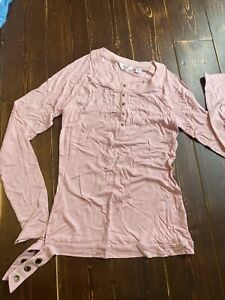 Adidas Originals Missy Elliot Respect Me LS Ladies T-shirt UK 12 EU 38 Pink