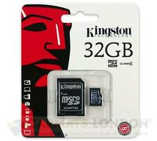 Kingston Micro SD 32GB SDHC Micro Memory Card Mobile Phone Class 4 + SD Adapter
