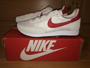 Nike Men's Challenger OG CW7645-100 White and University Red Shoes Size 11.5