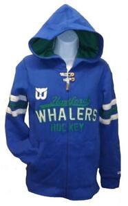 New Hartford Whalers Hockey Womens Sizes XS-XL CCM Full-Zip Jacket $75