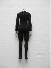 Female Clothes Accessory 1/6 Jumpsuit  Black Corset Elastic Body Suit Model D