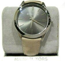 Michael Kors Slim Runway Quartz Grey Dial Men's Watch Leather Strap  MK8619 $195