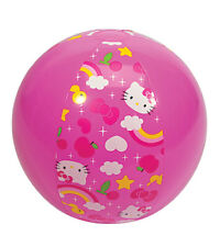 "Aqua Leisure Hello Kitty Pink Rainbow Star 20"" Beach Ball Summer Kids Girl Fun"
