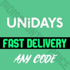 UNIDAYS DISCOUNT CODES FAST DELIVERY - UK ONLY (please read description)