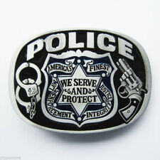 Police America's Finest Metal Belt Buckle