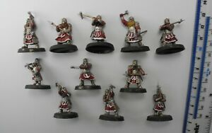 11 DWARF GRIM HAMMERS Plastic Hobbit Lord of the Rings Dwarfs Army Painted 75