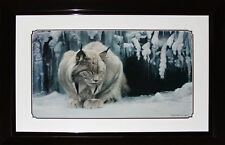 Dozing Lynx by Robert Bateman Fine Art Print in Deluxe Frame Finish