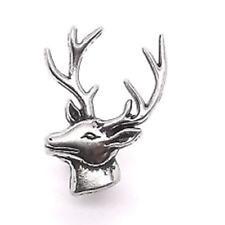"""M - Deer Head Left Facing Nickel Line 24 Decorative Snap Cap 1"""""""