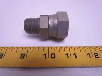 """0107-8-12 1/2x3/4"""" Male Pipe Adaptor Swivel NPTF NPSM Steel"""