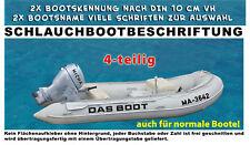 2x Bootname und 2x Bootnummer nach Vorschrift DIN 10 cm Schrifthöhe max. 58 cm L