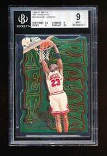 BGS 9 MICHAEL JORDAN 1996-97 FLEER METAL NET-RAGEOUS DIE CUT SUPER RARE INSERT!!