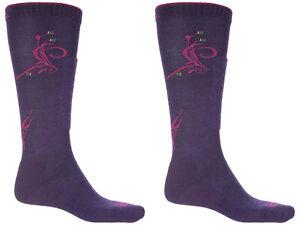 CABOT & SONS Ride/Ski Merino Wool Socks Shin Pad, Women's 9-11, (2) PAIRS