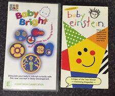 2 PAL VHS Video Bundle: ABC's Baby Bright + Baby Einstein, 1-18mths