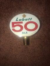 Vintage Labatt 50 Ale BEER WOOD TAP HANDLE Knob; 2-Sided