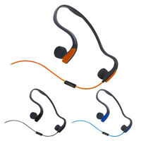 Sport Black/blue/orange Bone Conduction Stereo EarPhone Headset Waterproof wire