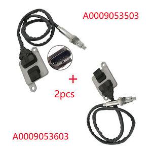 2pcs Nox Sensor For Mercedes Benz W166 W205 Sprinter A0009053503+A0009053603