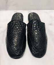 Battaglia Beverly Hills Black Crocodile Men's Slippers Shoes
