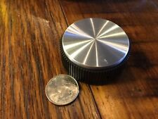 plastic knob radio camera telescope with turned aluminum face 2 1/8 x 7/8 1/4