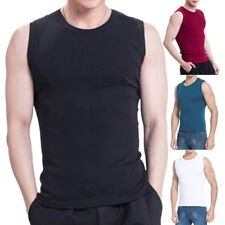 Summer Mens Tank Tops Casual Elastic Fitness Solid Sleveless Vest Slimming Tops