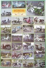 "HONDA "" C CLASSIC-28 MODELS"" POSTER FROM ASIA-CF50 & CF70 Motorbikes,Motorcycles"