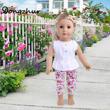 Mini Shirt+Pants Doll Clothes For 43cm Baby Born Zapf Or 18'' American Girl Doll