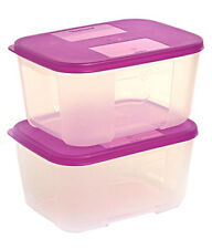 TUPPERWARE Freezer Mate small - Set of 2 Containers 700 ml - NEW