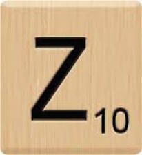 10 Letter Z, Beautiful Scrabble Tiles Letters, Individual, Hot Press Paint, USA!