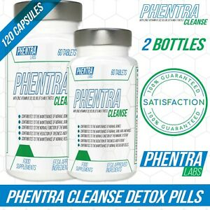2 x Phentra Labs Detox Colon Cleanse Pills Strong Weight Loss - Slimming Tablets