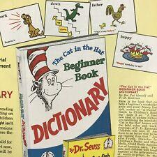 Dr. Seuss Cat Hat Dictionary Book Magazine Print Ad Vintage 1965 Original Color