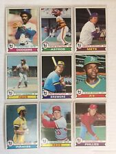 1979 Topps Baseball Card Commons. Pick up to 10 cards to Complete Your Set.