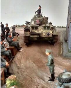 World War 2  DIORAMA     'Le Pion Rouge'      France 1944       1:35 scale