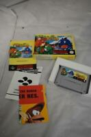 SNES Super Nintendo Super Mario World 2 Yoshi's Island Game Boxed manual & Extra
