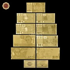 WR Europe Italan GOLD Foil Banknote Set Collection 25 - 100000 Lire Notes /w COA