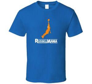 Oklahoma City Thunder Russell Westbrook Jersey Tee  Blue 3 T Shirt