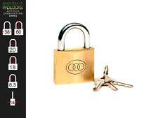 Tri Circle Keyed Alike 38mm Brass Lock Padlock