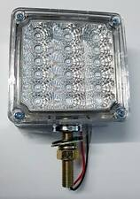 "4"" Square 1 Post LED Indicator Light Clear/Amber to suit WS,Kenworth and Mack"
