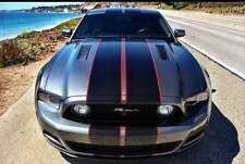 """Ford Mustang Racing Stripes 36 Feet 10"""" Graphic Decal Sticker & Red Pinstripe"""