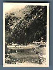 Yvon, Suisse, Mayens de Van d'en Haut près Salvan et Dents du Midi  Vintage
