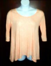 """""""Cloud Chaser"""" Peach Elbow Sleeves Cutout Blouse – Size Large"""
