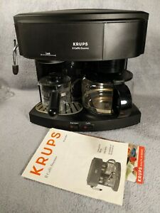 Krups II Caffe Duomo Type 985 Black Espresso Machine Coffee Maker Tested Works
