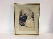 Victorian French Fashion La Mode Illustre Fabric Shadow Box Framed Print