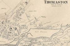 Thomaston Plymouth, CT 1874 Maps with Businesses and Homeowners Names Shown