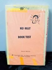 Rare Nu-Way Book Test New Sealed Unused A Ceremony In The Lincoln Tunnel 1980