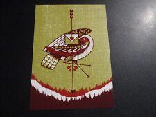 ROCKETS ARE Red 5X7 Postcard BIRD poster print Jeffrey Everett gaslight anthem