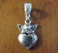 Pendant Silver Angel on Heart