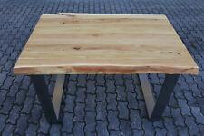 Designer Esstisch Akazie Holz Tisch Edelstahl Gestell Bürotisch Schreibtisch NEU