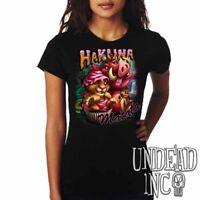 Hakuna Matata Lion King Simba Timon Pumba Cupcake Disney - Ladies T Shirt