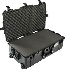 Black Pelican 1615 Air case With Foam.  With wheels.